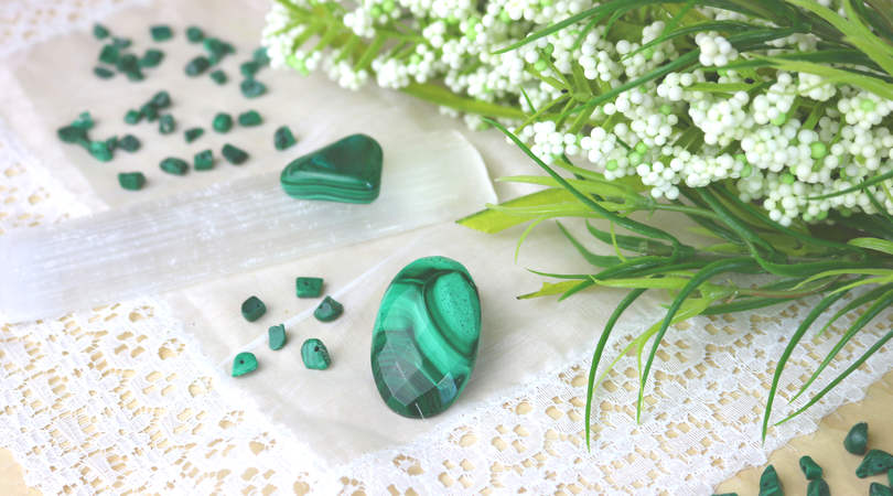 Malachite is a phenomenal healing crystal with a memorable green swirl pattern. Known as the Stone of Transformation. It is extremely versatile and easy to work with, both physically and energetically. It has an intimate connection with nature and sentient life. Learn more in this blog post!